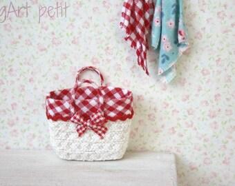Shopping  basket for dollhouse.