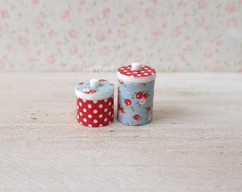 Canisters for dollhouse scale. 1:12 scale