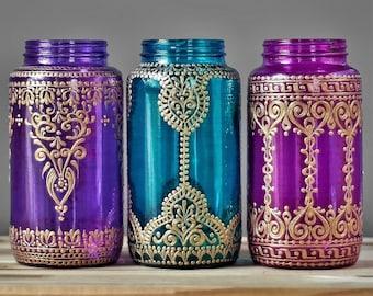 Wanderlust Housewarming Gift for Her Sofa Table Bohemian Decor Gypsy Mason Jar Centerpieces Moroccan Lantern Centerpiece Moroccan Decor
