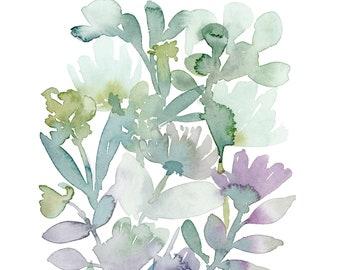 Succulent Watercolor Painting, Plant Lovers Gift, Succulent Art Print