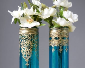 Moroccan Decor, Bohemian Bud Vase Set