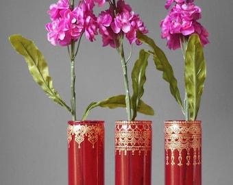 Boho Engagement Party Decorations, Henna Wedding Centerpieces, Moroccan Bud Vase Set