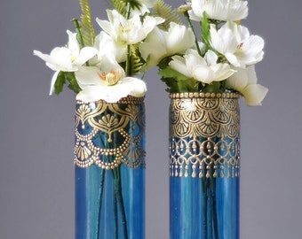 Henna Bud Vase Set, Moroccan Decor