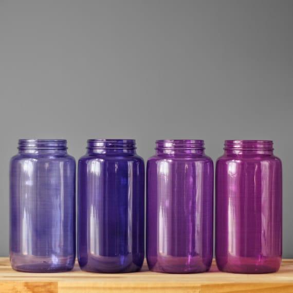 Bathroom Storage Apothecary Jars Tinted Glass Storage Jars Etsy
