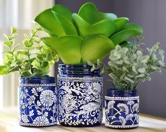 Succulent Planter Personalized Gift for Her Cactus Planter Indoor Planters Air Plant Holder Succulent Pot Plant Pot Mason Jar Centerpieces