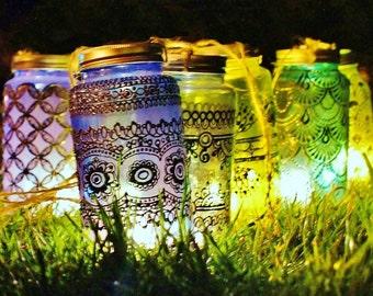 Mason Jar Candle Lantern Boho Gift Moroccan Decor Outdoor Lantern Mason Jar Light Bohemian Bedroom Decor Mason Jar Lamp Rustic Lighting