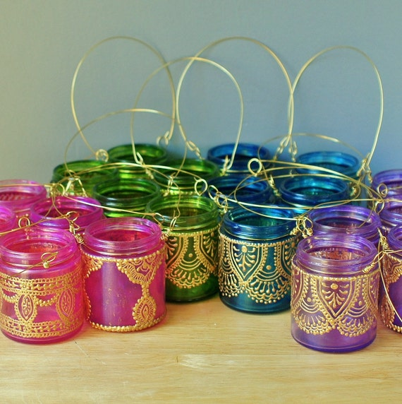 Items Similar To 18 Hanging Candle Lanterns Inspired By