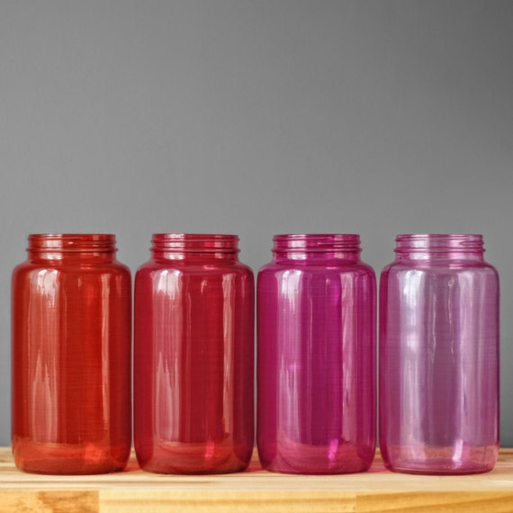 Glass Kitchen Canisters, Painted Mason Jar Canisters, Glass Cookie Jar