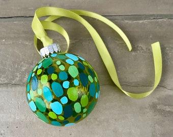 Holiday Greenery Modern Christmas Ornaments Glass Ball Ornaments
