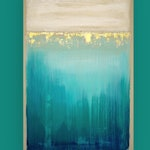 """RESERVED Art, Acrylic Painting,Large Original Abstract, Acrylic Paintings on Canvas Ora Birenbaum Titled: Abyss  24x36x1.5"""""""