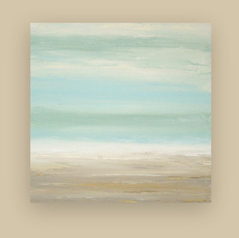 Art Acrylic Painting Original Abstract Seascape Shabby image 0