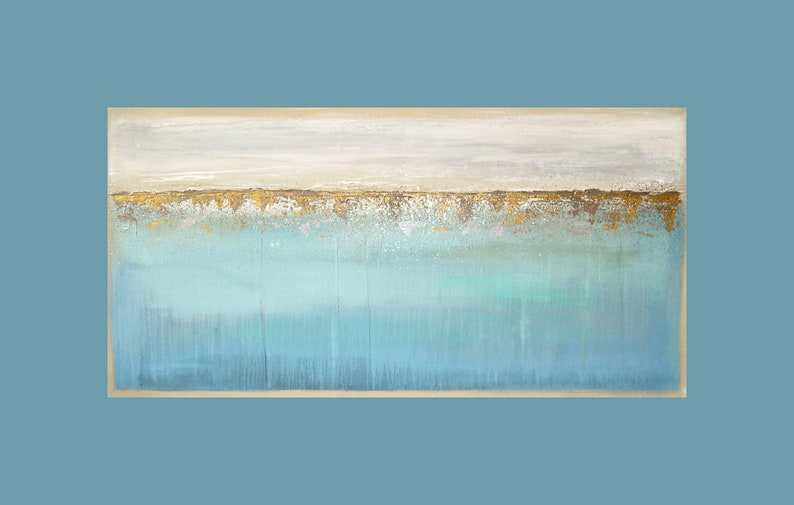 Art Acrylic Painting Original Abstract Pastel Shabby Chic image 0