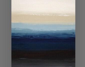 "Art, Abstract, Acrylic Painting, Abstract Modern Art Original Acrylic on Canvas by Ora Birenbaum Titled: Understated 2 24x36x1.5"""