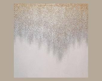 "Glitter Art, Ora Birenbaum Art, Abstract Acrylic Original Painting Mixed Media Painting Titled: Glitz and Glamour 7 40x40x1.5"""