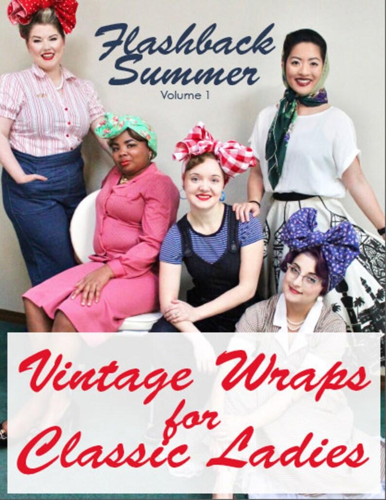 eBook  Vintage Wraps for Classic Ladies tutorial  head wraps image 0