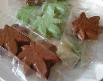 Chocolate Cannabis Shapes