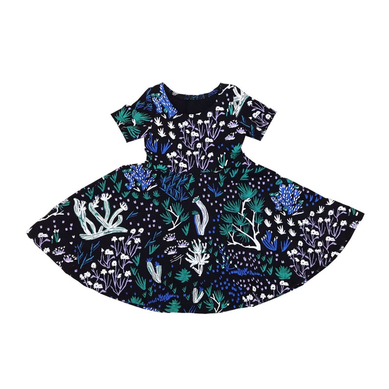 c5a655c1d82dd Black 'Peyote' Twirl Dress- Toddler Dress- Organic Cotton- Printed Dress  -Floral Kids Dress -Baby Dress- Easter Dress- Thief&Bandit®