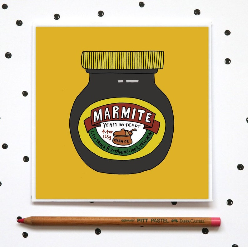 Just because card Joke Card Card for foodies Funny Greeting card Card for Cooks Birthday Card Marmite Card