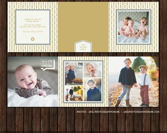Christmas / Holiday PSD 5x5 Accordion Card Template 5x5 - A6