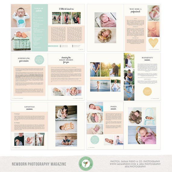 Newborn photography welcome guide client guide magazine