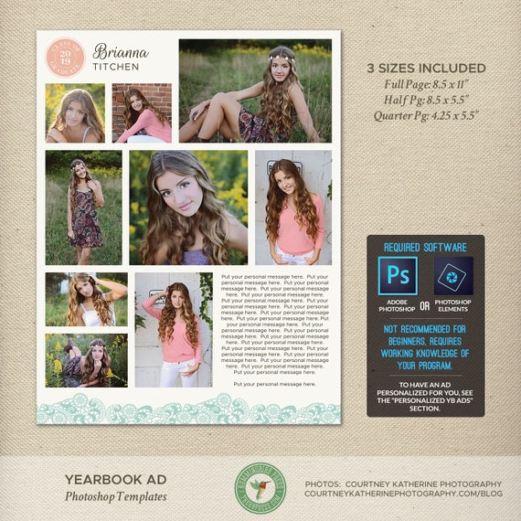 Senior Yearbook Ad Photoshop Templates Graduation Ad High - Photoshop ad templates