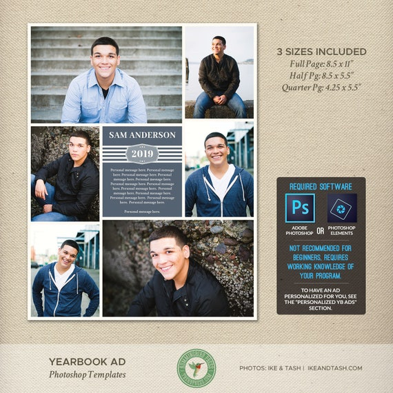 senior yearbook ad photoshop templates graduation ad high