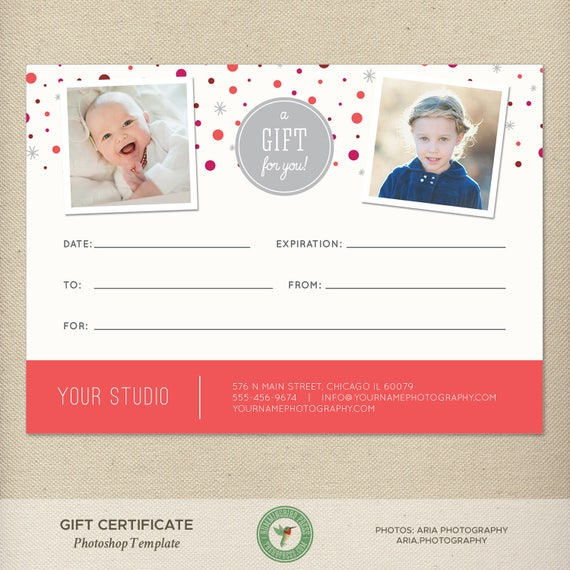 5x7 digital or print gift certificate gift card photography etsy