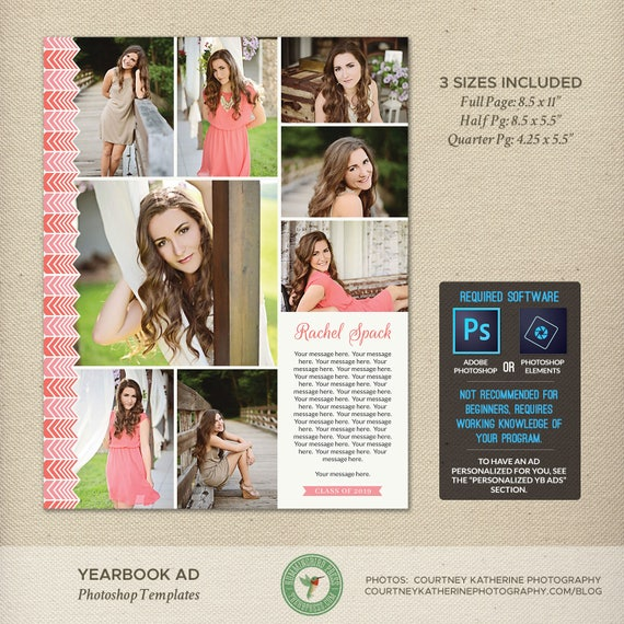 Senior yearbook ad photoshop templates graduation ad high etsy image 0 maxwellsz