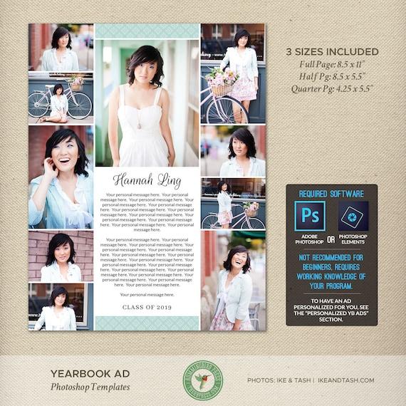 senior yearbook ad photoshop templates dedication tribute. Black Bedroom Furniture Sets. Home Design Ideas