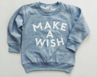 MAKE A WISH Toddler Crew Neck