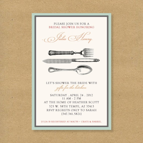 Wedding Gift No Registry: Items Similar To Bridal Or Wedding Shower Invitation