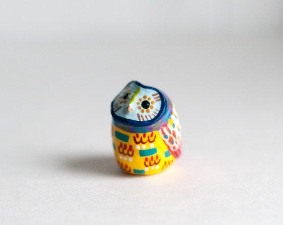 Owl Study 30 | Barn Owl Totem | Colorful | Geometric | Owl Figurine | LIMITED EDITION