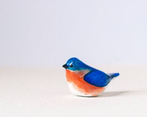 Eastern Bluebird Miniature | Blue Bird | Songbird | Bird Figurine