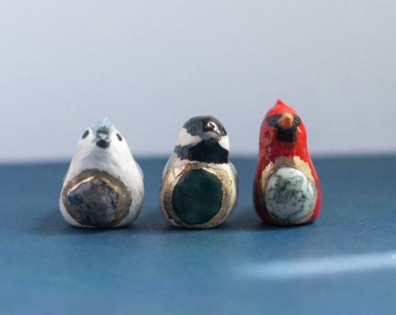 Song Bird Talisman | Choose Your Song Bird | Chickadee | Titmouse | Cardinal | w/ Crystal Healing | A Creature of One Wilderness