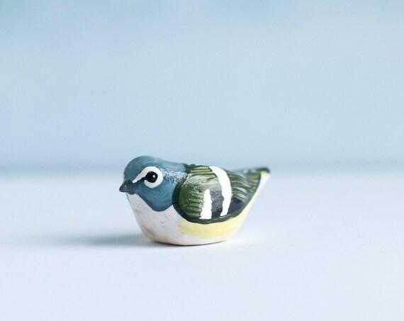 Blue Headed Vireo Miniature | Bird Figurine
