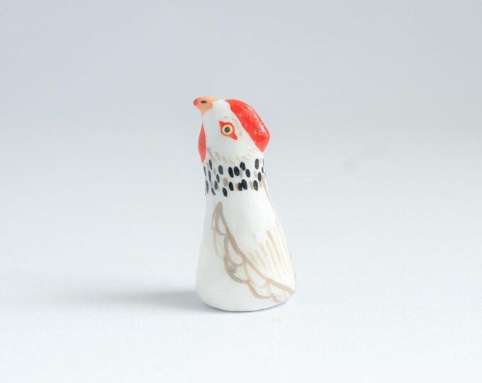 Chicken Ring Holder | Bird Ring Cone | Jewelry Display | Ring Dish | Chicken Figurine