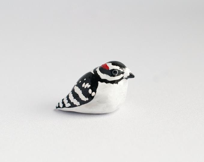 Downy Woodpecker Miniature | Songbird | Bird Figurine