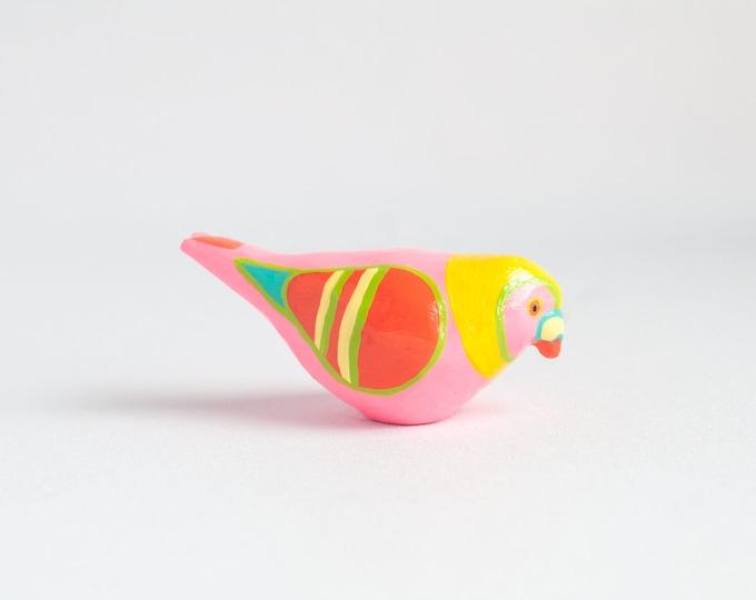 Pigeon Study: Pink Lemon Supreme | Pigeon Figurine | Colorful Bird | Paperweight