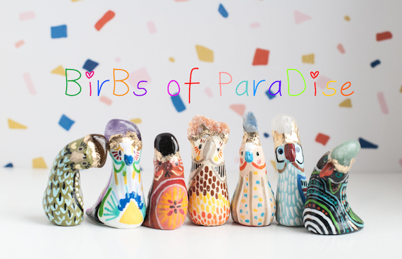 BirBs of ParaDise | NEW Addition to Derpy Little BirBs | Colorful Bird Figurines | Choose Your BirB | BirBs for Health and Happiness