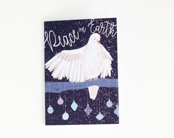 Peace on Earth Holiday Card | White Dove | Holiday Card | Greeting Card