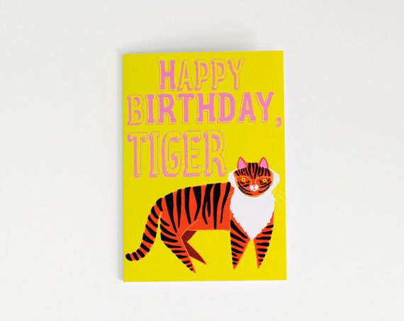 Happy Birthday, Tiger | Funny Card | Birthday Card