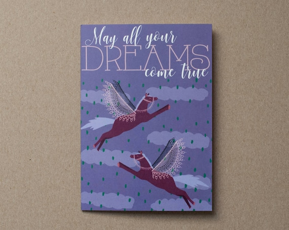 May All Your Dreams Come True Card | Congratulations Card | Graduation Card | New Baby