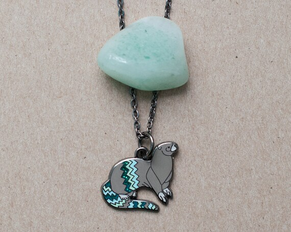 River Otter Necklace | Enamel Jewelry