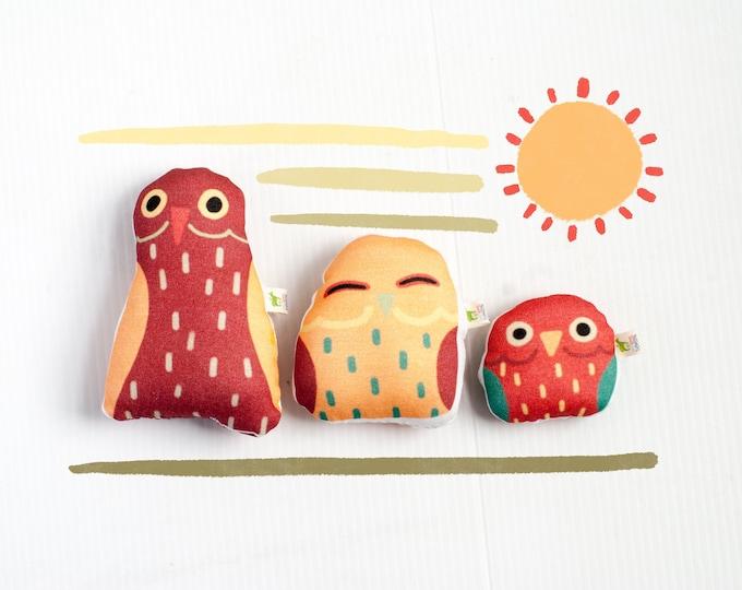 Derpy Little BirBs Mini Plushies   Set of 3   Nursery Decor   Cute Little Bird Pillows