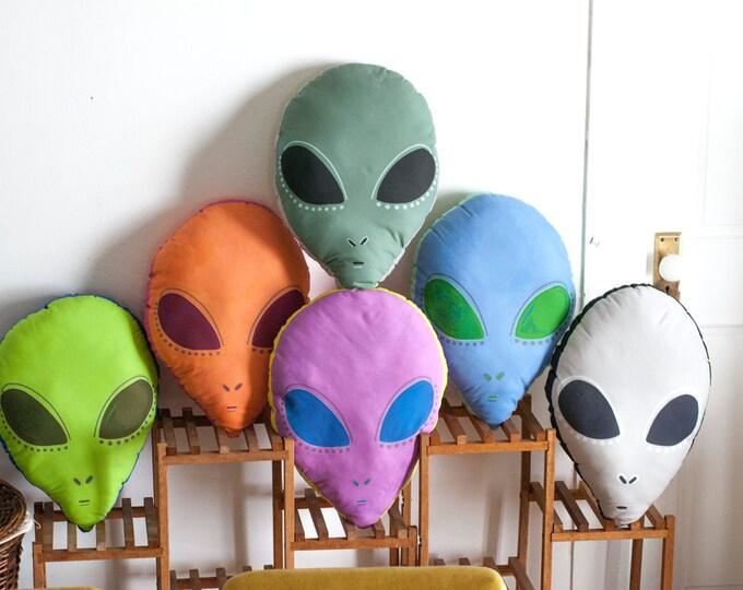 Choose Your Large Alien Head Pillow / Alien Plushie / 6 Different Colors