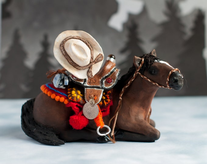 The Carrier of Western Legends: American Quarter Horse Sacred Sculpture | A Creature of One Wilderness