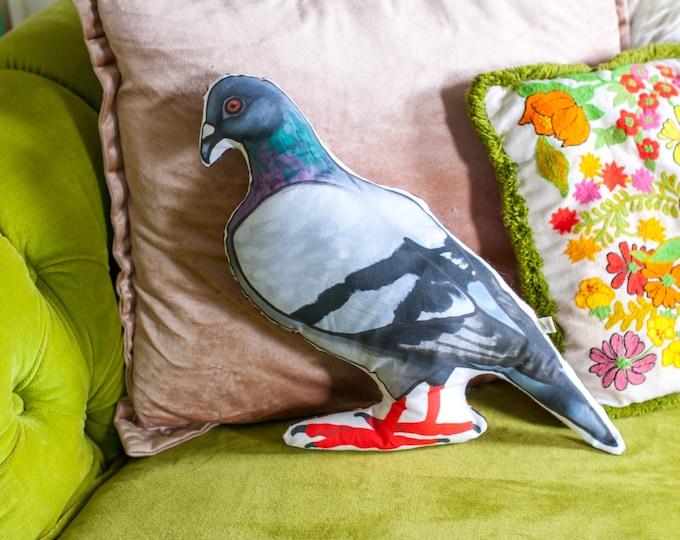 Large Pigeon Plushie   Funny Bird Pillow   Rock Dove   Large Pigeon Plushie