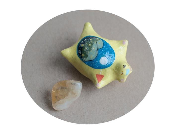 The Carefree Bear with Citrine Pocket Stone