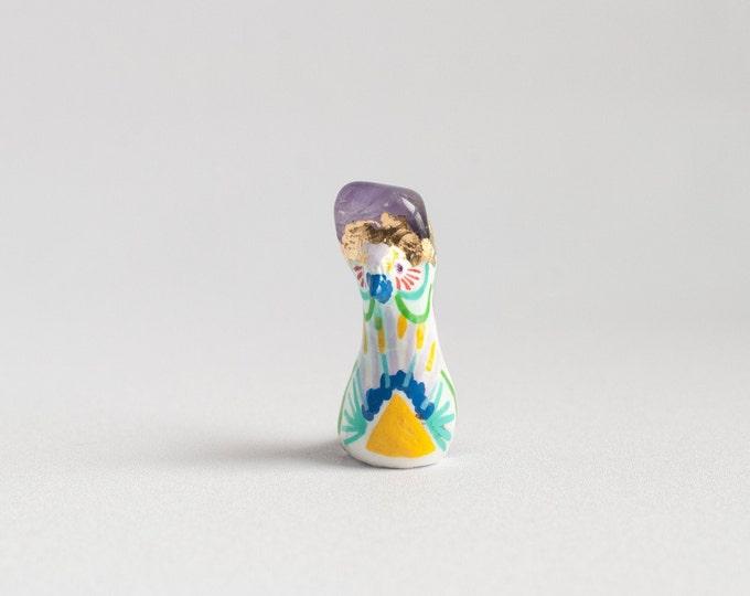 BirBs of ParaDise-Amethyst | For Calming | Self Esteem Bird Figurines