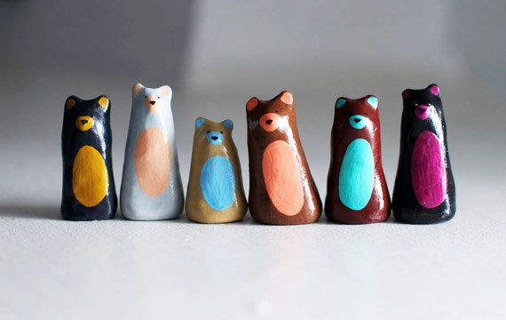 The Congregation of Indifferent Bears | Ring Holder, Ring Cone, Bear Figurine